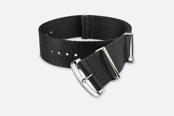 Premium Black MORA NATO Watch Strap