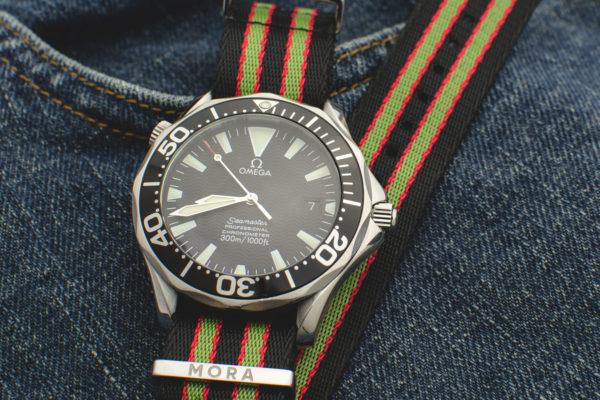 vintage bond nato strap on omega seamaster 2254