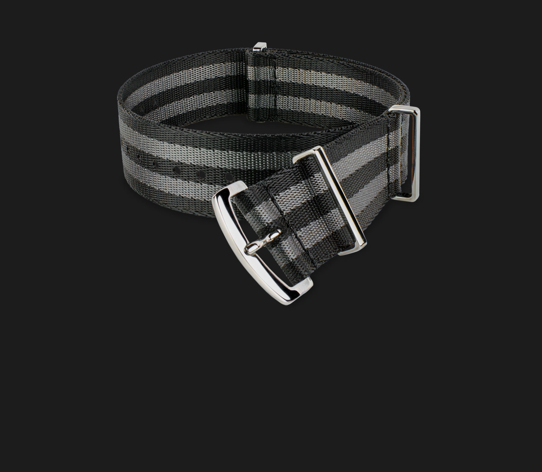 Black & Gray Striped Strap
