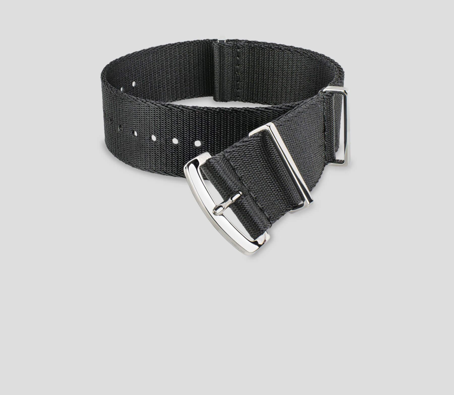 Solid Black Strap