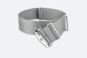 premium solid grey MORA NATO watch strap